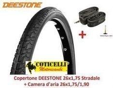 Deestone EBB28PAD 1 COPERTONE NEROPARA 1 Camera dAria per Bicicletta Bici City Bike Trekking 700 X 28 1 5//8 1//8 28-622